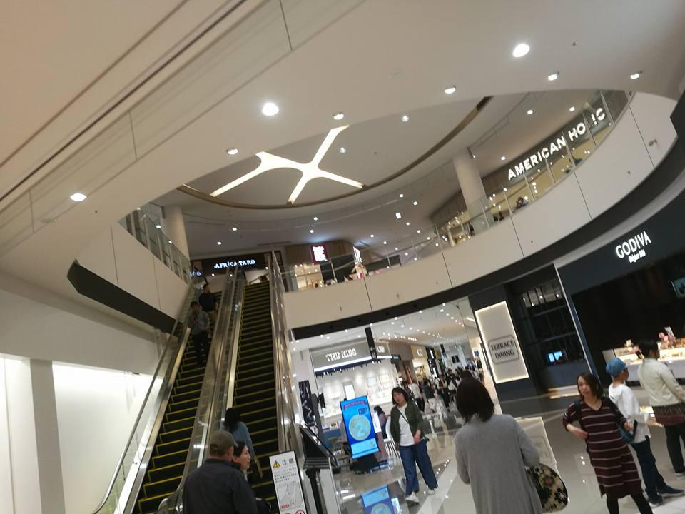 escalator new reopened aeon mall miyazaki